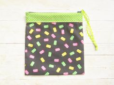 Pez pouch pencils case cosmetic bag make-up pouch by poppyshome