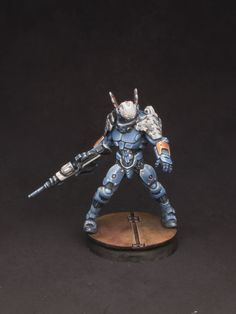 More finished 28mm PanOceania miniatures from the Operation: Icestorm starter set. For the Infinity tabletop wargame, by Corvus Belli