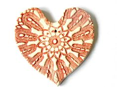 SAINT Valentine's Day Rustic Red Ceramic Heart Ornament, Decorated with Vintage Lace, Summer Fashion  Ask a Question $10.00 USD. THE NETHERLANDS
