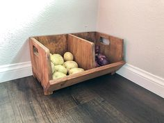 23 Easy DIY Corner Vegetable Storage Bin Plans DIY Corner Vegetable Storage Bin Plans Almost all aspects of a home need some sort of storage canister. They are extremely utilitarian thus you see th. Diy Vertical Storage, Diy Vegetable Storage, Fabric Storage Boxes, Playroom Storage, Corner Storage, Diy Kitchen Storage, Toy Storage, Corner Shelves, Bedroom Furniture Redo