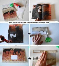 how I make my recycled magazine envelopes