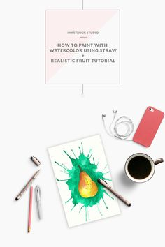 Learn how to paint with watercolors using straws
