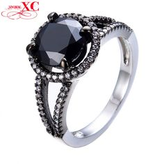 Dudee Jewelry Unique Black White Round Zircon Stone Ring Men Black Gold Filled Jewelry Wedding Ring RB0093. High Quality Product. High Polished / Fine Workmanship. Never Fade / Scratchproof and Anti - Allergy. Pack with Beautiful Bag as a Gift. Size info is estimate, if concern, Please leave me message.