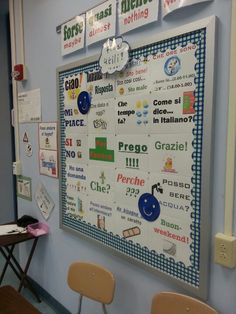 Word walls - useful phrases.  World Language vocabulary.