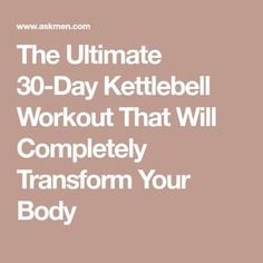 The Ultimate Kettlebell Workout That Will Completely Transform Your Body Kettlebell Routines, Kettlebell Weights, Kettlebell Challenge, Kettlebell Training, Dumbbell Workout, Workout Routines, Body Workouts, Body Exercises, Workout Plans