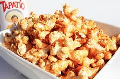 Hot Sauce and Pickle Juice Popcorn / 19 Creative Ways To Flavor Popcorn