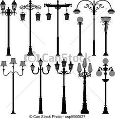 lamp post drawings - Google Search