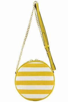 {Stripe Rounded Messenger Bag}