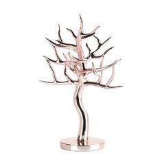 Rose Gold Jewelry Tree: Display you favorite jewelry in total style with this striking jewelry tree. The polyresin statue is finished in fashionable rose gold to add elegance and shine to your dresser or vanity. Diy Jewelry Rings, Diy Jewelry To Sell, Jewelry Stand, Rose Gold Jewelry, Key Jewelry, Quartz Jewelry, Anklet Jewelry, Quartz Ring, Cheap Jewelry