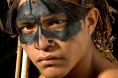 White Wolf : Sacred Meaning of Indigenous Face Paints: 22 Painted Faces That Tell Stories Native American Face Paint, Native American Tribes, Wild Eagle, Sacred Meaning, Tribal Makeup, Amazon Tribe, Tribal Face, Cinema, Native Indian