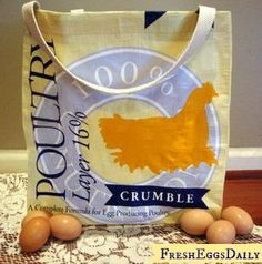 """Feed bag tote. Good clear instructions and pics. She makes handle 22"""" long and cuts then 3"""" wide w a three way fold.  You could make boxed corner deeper than suggested 4"""". Sew corners once finished on outside to strengthen stand."""