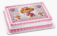 Edible Prints On Cake - EPoC - PAW PATROL SKYE 2 Edible Birthday Cake Topper OR Cupcake Topper, Decor