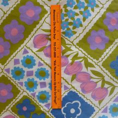 1970's vintage sheet fabric fat quarter patchwork style by sosovintage