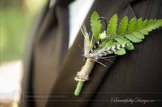 Boutonniere made from fishing fly hook