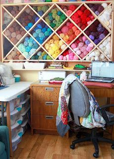 yarn storage - I could use this... I have yarn everywhere and am not sure exactly how much, what type, what color, etc.