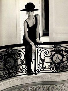 Christy Turlington, in Valentino September 1991 Vogue Italia Photo by Steven Meisel