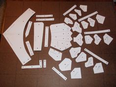 It starts with a paper pattern to trace on a flat sheet of metal.