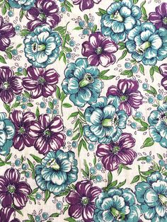 Flour Sacks, Purple Fabric, Feed Sacks, Photo Craft, Bubblegum Pink, Vintage Cotton, Vintage Fabrics, Fabric Scraps, Vintage Flowers