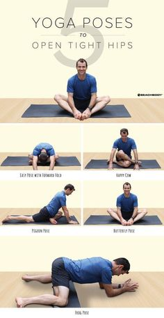 Suffering from tight hips? These 5 yoga poses will help loosen them and open them up so you can keep your hips healthy and mobile. // stretches // stretching // hip moves // loose hips // yogi tips // fitness // exercise // workouts // 3 Week Yoga Retreat // Beachbody // BeachbodyBlog.com #Yoga