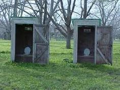 Outhouses... this reminds me when I was about 10yrs old... we had 2 outhouse then...Hated those things...