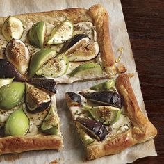 Honeyed Fig and Goat Cheese Tart - FineCooking