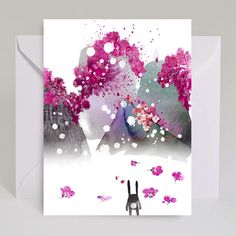 New Masha D'yans Cards for spring! Bloom Mountains Bunny watercolor. The new cards have arrived! And they're looking mighty springy. Tons of fresh picks for all occasions.