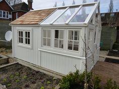 bespoke greenhouse combined Posh shed