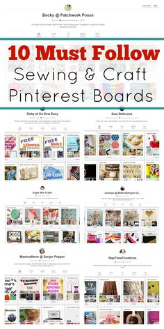 10 Sewing Pinterest Boards