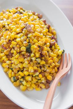 For a simple dish, caramelize shallots in bacon and add corn to for extra sweetness. #AETN #BeMore