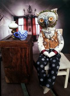 Owl doll II. by Andrea Tanaki Fejtkova