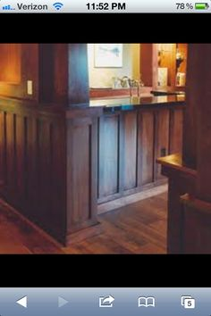 Wainscoting with stained wood old style