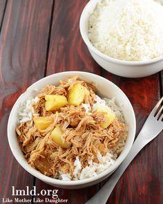 Slow Cooker Hawaiian BBQ Chicken