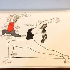 10 Funny Illustrations That Every Yoga Beginner Can Relate To - bemethis Yoga Cartoon, Cartoon Art, Yoga Beginners, Yoga For Kids, Yoga For Men, Kundalini Yoga, Yoga Meditation, Yoga Meme, Yoga Humor