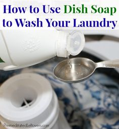If you run out of laundry detergent try dish soap : How to Use Dish Soap to Wash Your Laundry - it works!