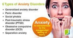 34 Menopause Symptoms - 6 Types of Anxiety Disorders. Discover 6 different types of anxiety. Types Of Anxiety Disorders, Generalized Anxiety Disorder, Social Anxiety Disorder, Stress Disorders, What Is Anxiety, Ways To Reduce Anxiety, How To Treat Anxiety, Types Of Ocd