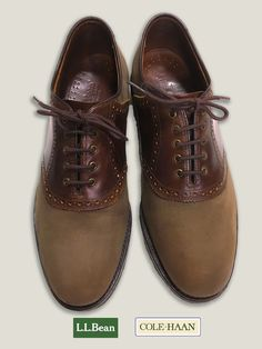 LL Bean Saddle Oxford made by Cole Haan
