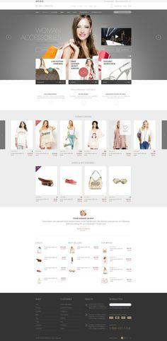 Daily Brands Store - eCommerce PSD Template by Nicola Mihaita, via Behance
