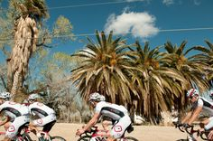Riding by the desert landscape