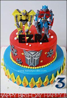 This is beyond weird considering Ezra has chose transformers for his 3rd birthday!!!!! Weeeeeiiiirddddd!!!!!!