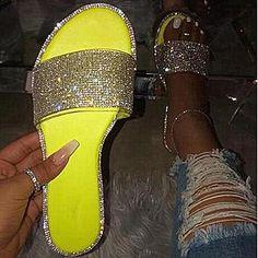 Beige Shoes, Purple Shoes, Silver Shoes, Bling Flip Flops, Cute Sandals, Cute Shoes, Flat Sandals, Summer Sandals, Beautiful Sandals