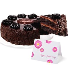 Mother's Day Chocolate Mousse Torte Cake! For the mother's who adore chocolate almost as much as their kids! This one is the best! wo rich, chocolate cake layers are filled with luscious chocolate whipped cream mousse, then covered with milk chocolate frosting and a dark chocolate glaze.