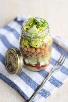 salat im glas // von @provinzkindchen