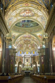 Interior of cathedral of Pisa, Pisa, Italy. Lovely conglomeration of styles. a bit lacking in heart. Cathedral Basilica, Cathedral Church, Pisa Italy, Pompei Italy, Tuscany Italy, Places In Italy, Places To See, Italy Vacation, Italy Travel