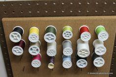 Cork Board Sewing Thread Spool Storage