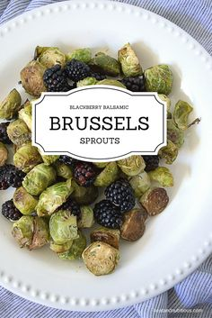Blackberry Balsamic Brussels Sprouts