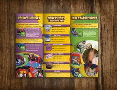 freelance brochure design for Party Time Inflatables by MiNNaNNa