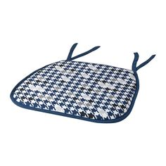 IKEA - ANNVY, Chair pad, blue, , Ties keep the chair pad in place.Machine washable for easy care.
