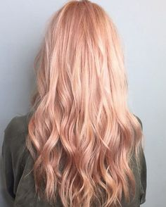 Rose gold blonde hair shades lighter to medium skin tones