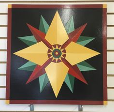 Barn Quilt Designs, Barn Quilt Patterns, Pattern Blocks, Quilting Designs, Painted Barn Quilts, Barn Signs, Mariners Compass, Barn Art, Types Of Craft