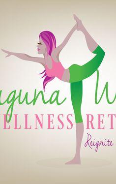 logo illustration for laguna women's wellness retreats. #yogalogo #shanashay #vectorillustration